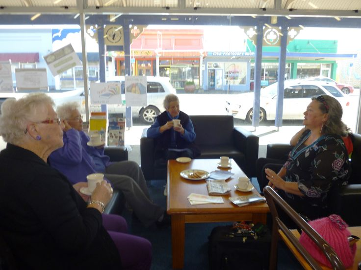Mareta Marsters-Grubner from the Taranaki Cancer Society visited the Opunake LibraryPlus Friends of the Library monthly cuppa session today to talk about the wonderful services offered by the society.