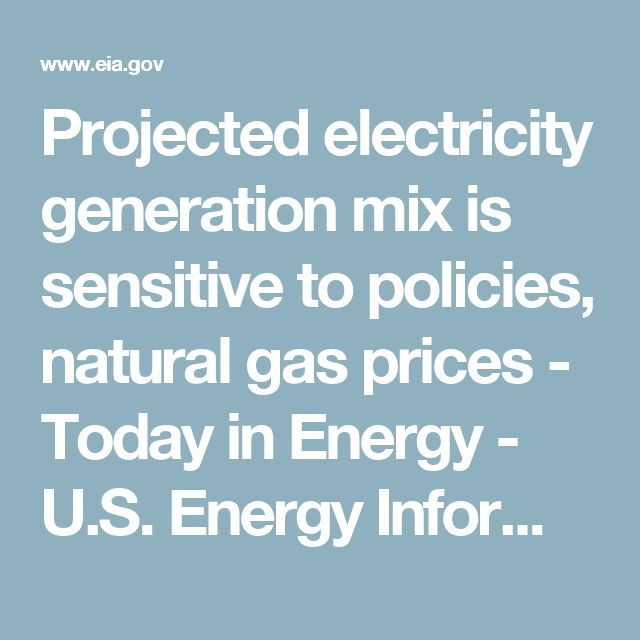 Projected electricity generation mix is sensitive to policies, natural gas prices - Today in Energy - U.S. Energy Information Administration (EIA)