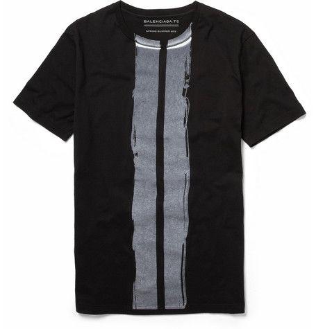 Balenciaga brush stroke-print cotton t-shirt: Stroke Print Cotton, Men S Fashion, Mens Clothing, Cotton Shirts, Men'S Clothing, Brush Stroke Print, Balenciaga Brush, T Shirts