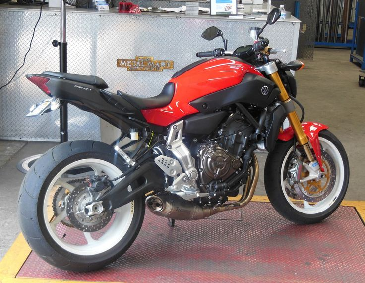 Yamaha FZ (MT) 07, bigger, better forks. I reckon the upgraded forks makes this a perfect bike.