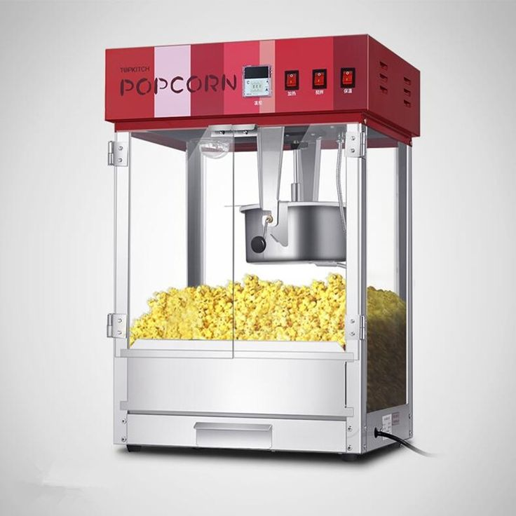 520.00$  Buy now - http://alip4d.worldwells.pw/go.php?t=32784167655 - 220V/1.6KW Non-stick Commercial Popcorn Machine Popcorn Maker With PC Door  520.00$