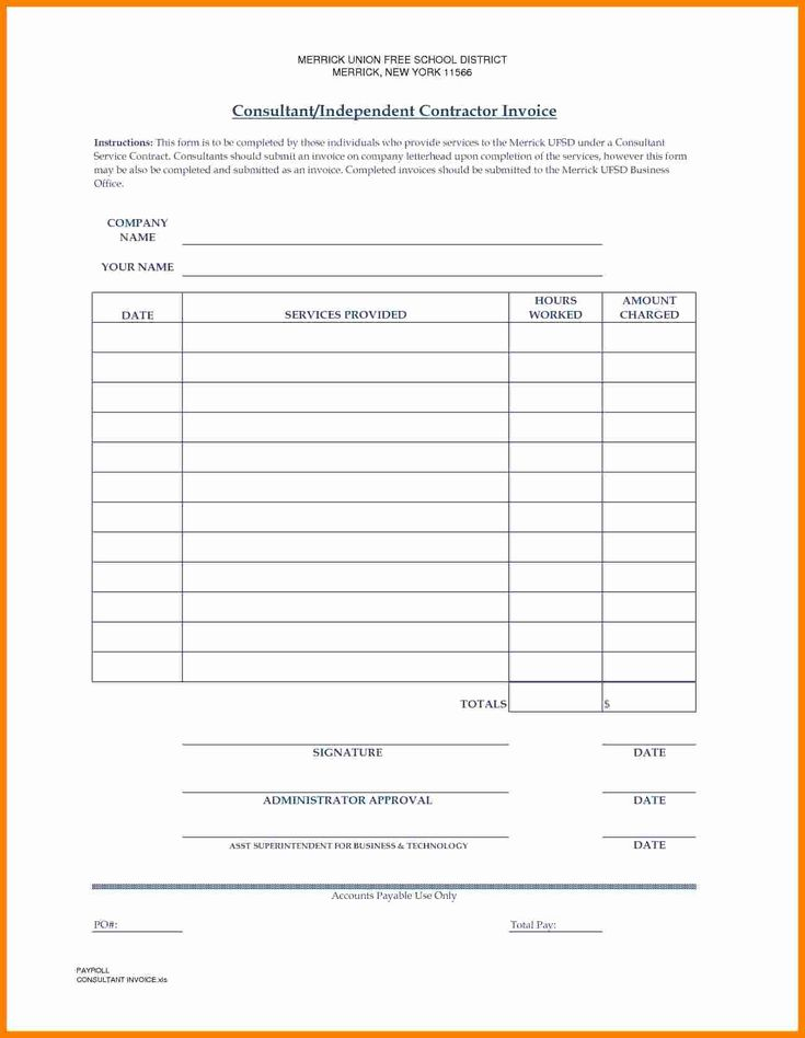 40 independent contractor invoice template in 2020