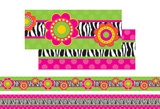 "Checkout the ""Zebra Flower Double-Sided Bulletin Board Border"" product"