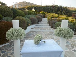 GREEK WEDDING FLOWERS : ISLAND VARKIZA WEDDINGS