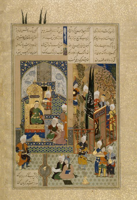 The Shahs Wise Men Approve of Zals Marriage, Folio 86v from the Shahnama (Book of Kings) of Shah Tahmasp