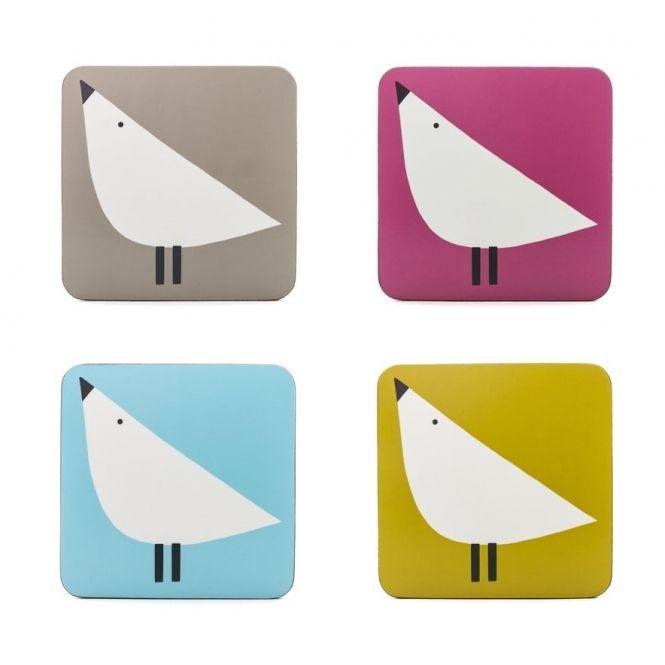 Scion Living Lintu Birds Coasters - Set of 4
