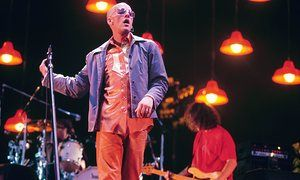 REM live at the Milton Keynes Bowl in 1995