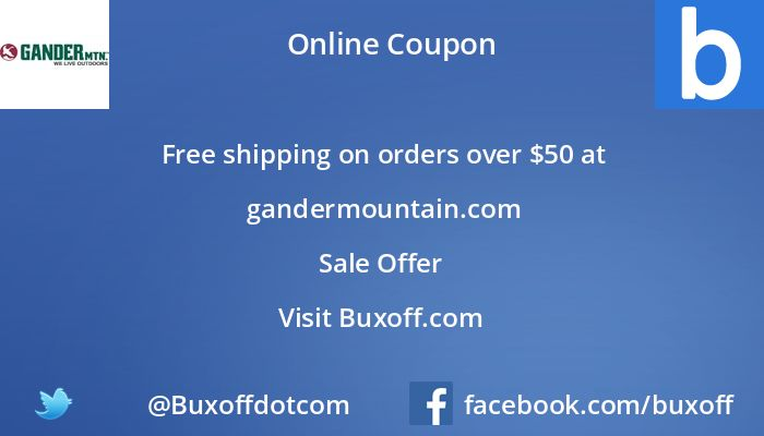Latest gander-mountain Coupon on Buxoff Visit to know more
