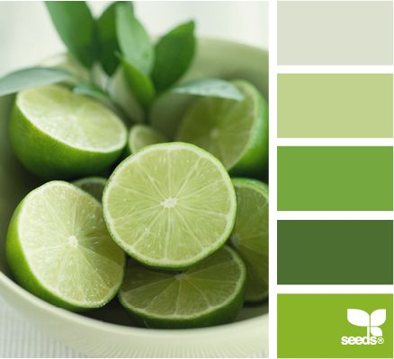 Lime green color palette.