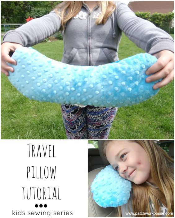Travel Pillow Tutorial – Sewing Projects for Kids Series.  Great projects to get those kids sewing! I would love to do this series with a few of mine.