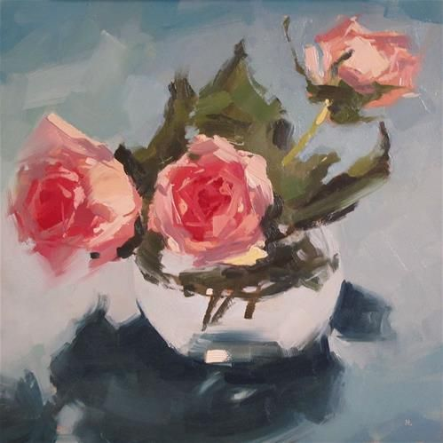 "Daily Paintworks - ""STRIKE A ROSE"" - Original Fine Art for Sale - © Helen Cooper"