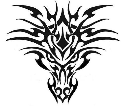 Tribal Dragon Head Tattoo Designs ~ http://tattooeve.com/tribal-dragon-tattoo-designs/ Tattoo Design