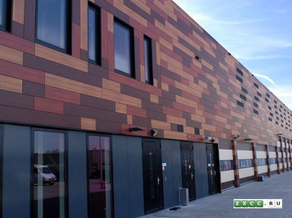 Панели фасадные огнестойкие HPL. Фасады под дерево. Компакт панели для вентилируемых фасадов RESOPLAN (Германия)