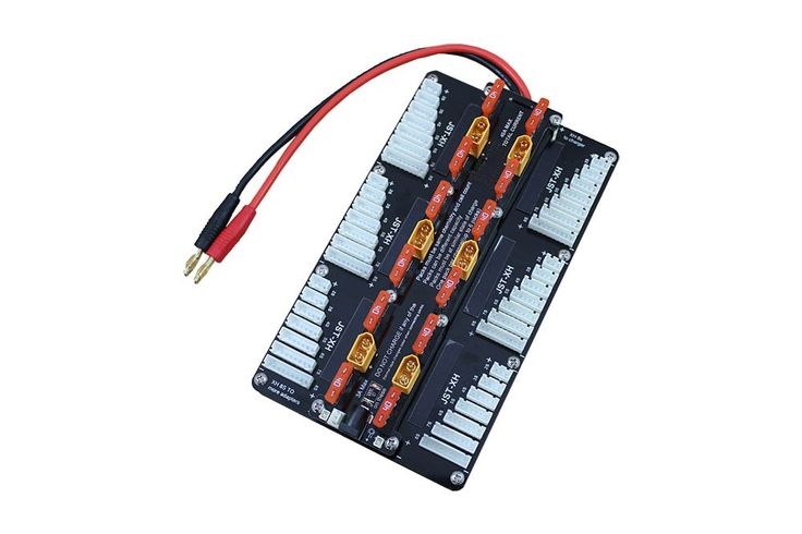 Multi-Port Safe Parallel Board for JST-XH & XT60 - Charge Boards - Wires & Connections - ProgressiveRC