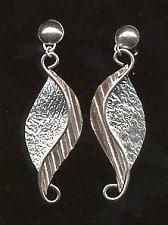 handmade copper earrings - Google Search