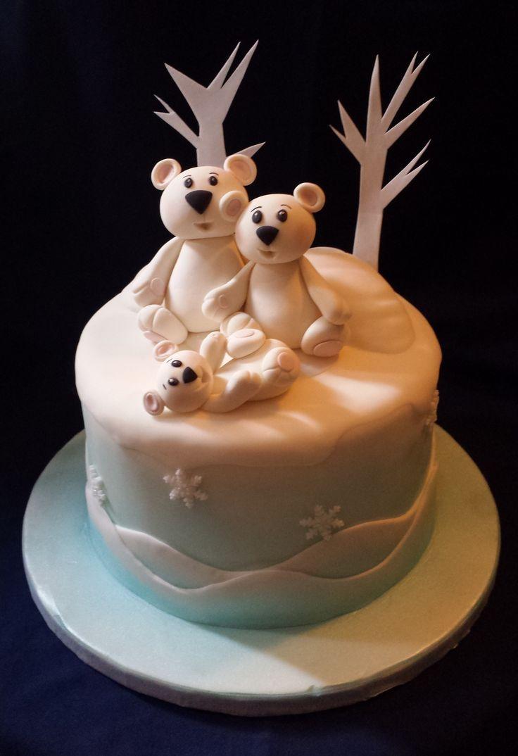 #whitebearcake #wintercake #elenapassionsweet #gumpastebear