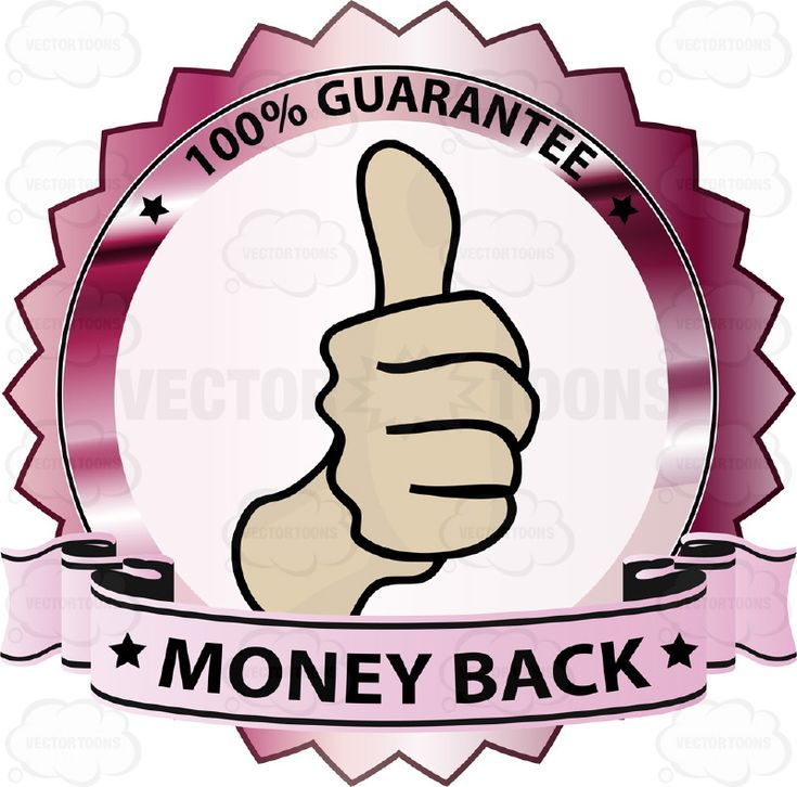 Thumbs Up Sign In Center Of Hot Pink Metallic Badge With 100 Percent Guarantee In Border And 'Money Back' On Light Pink Ribbon Scroll #agreement #approval #badge #commitment #fine #firstclass #fist #great #guarantee #handgesture #hitchhiker #like #medal #movie #obligation #ok #okay #pact #PDF #pin #promise #reflective #ribbon #shield #shiny #signal #superb #superior #vectorgraphics #vectors #vectortoons #vectortoons.com #warranty #word