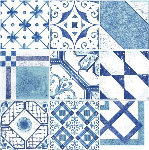 blue patterned tiles - Google Search