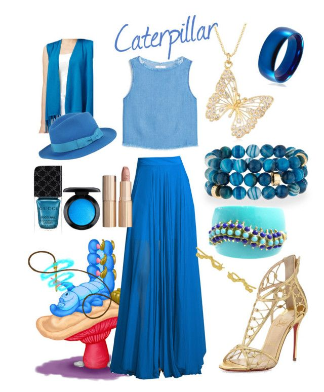 """""""Caterpillar"""" by disneydreamdress ❤ liked on Polyvore featuring Joseph A., Milly, Christian Louboutin, Ross-Simons, NEST Jewelry, Kenneth Jay Lane, West Coast Jewelry, Barbisio, Gucci and Charlotte Tilbury"""