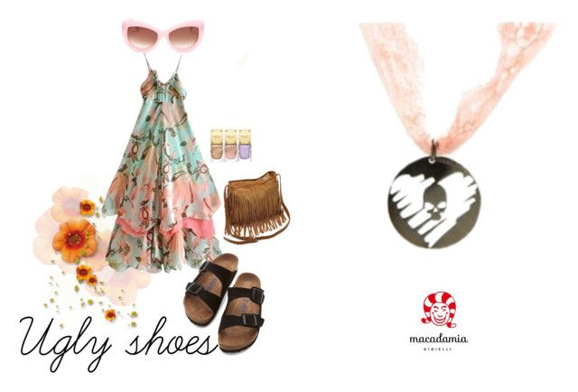 """""""ugly shoes"""" by macadamiajewels on Polyvore featuring moda, Birkenstock, Wildfox e Michael Kors"""