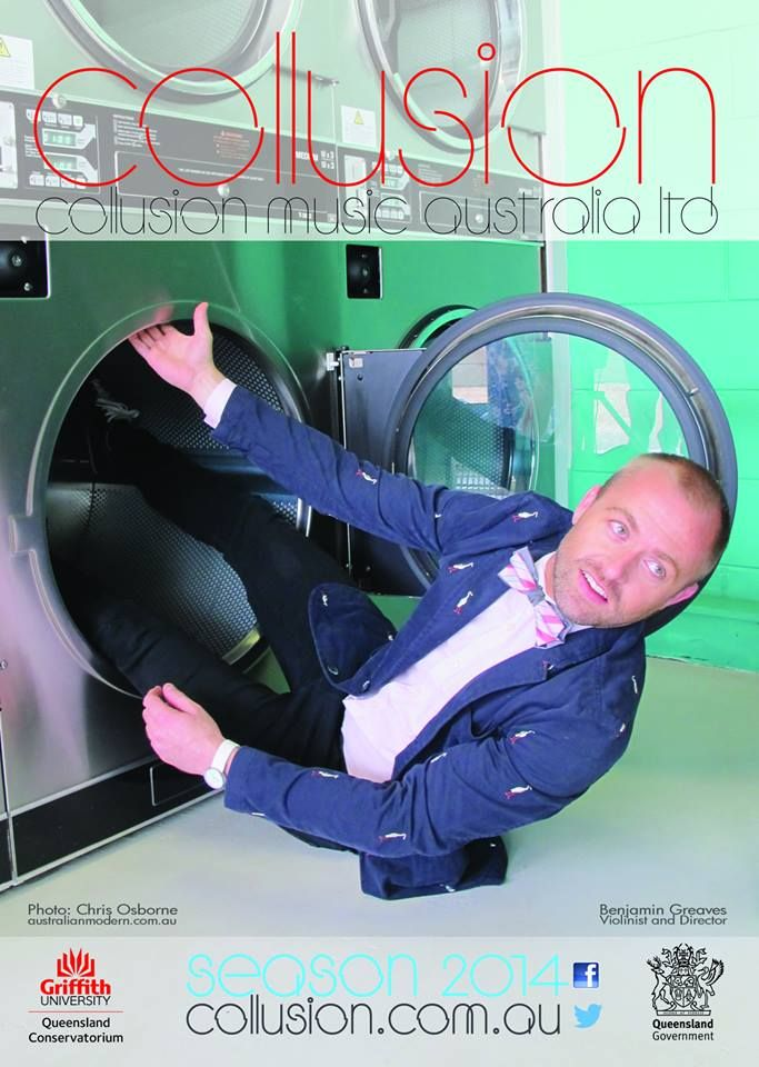 All in the wash - Collusion Music photo shoot at Snap Laundromat Brisbane #Snap Laundromat #Collusion Music #Brisbane #ChamberMusic #Allinthewash #Laundromats