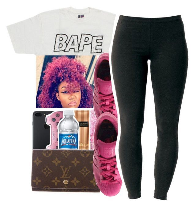 """""""mean muggin'"""" by glowithbria ❤ liked on Polyvore featuring A BATHING APE, adidas and Joe Browns"""