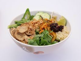 """Philadelphia: Kung Fu Hoagies : A vegetarian and vegan  <a adhocenable=""""false"""" href=""""/content/food/restaurants/pa/philadelphia/k/kung-fu-hoagies-restaurant.html"""">food cart</a> specializing in sandwiches may not seem like the most-obvious place for ramen, but this cart ladles a great bowl of noodles. Owner and partner Paul Davis admits he always loved springy noodles and sharp, oily pickles. His version features vegetarian chicken, spicy bean paste and broth found in many Southeast Asian…"""