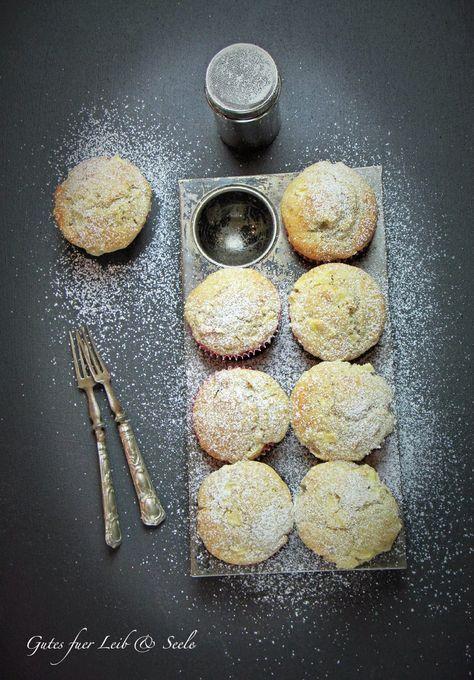 Gutes für Leib & Seele: Fluffige Apfel-Walnuss-Buttermilch-Muffins