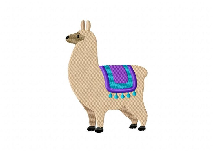 Alpaca Machine Embroidery Design