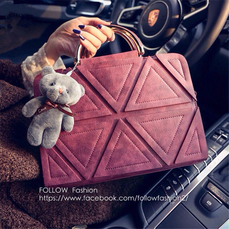 Triangle pattern beautifully attached to the side of bag.  Special promotion on for this month only! Follow Fashion - https://www.facebook.com/followfashion2/