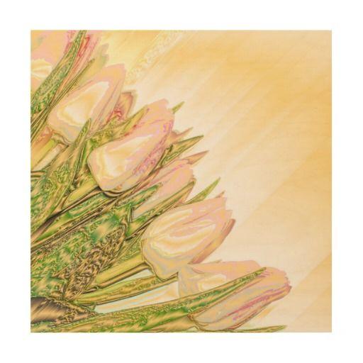 festive flower wood print