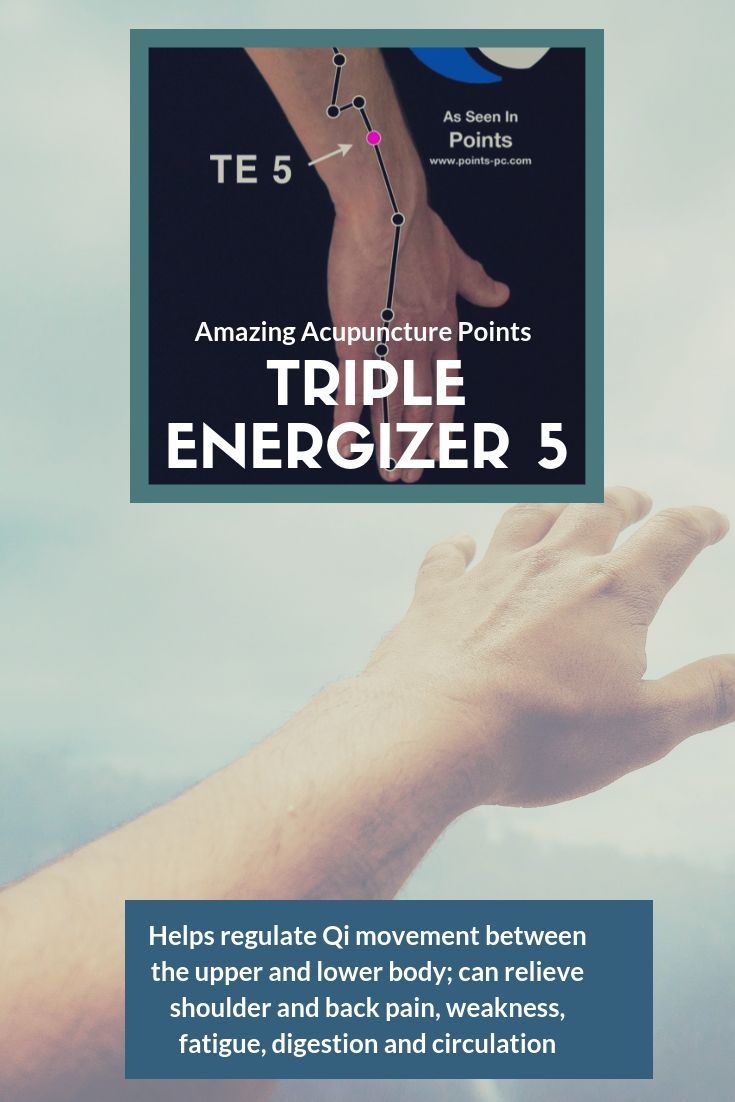 Amazing acupuncture point triple energizer 5 helps