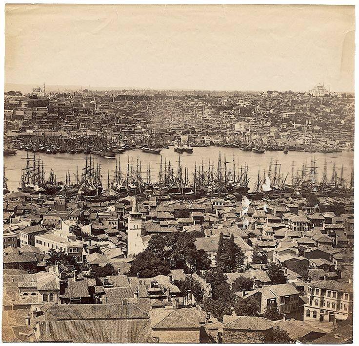 GALATA KULESİNDEN İSTANBUL-1870-