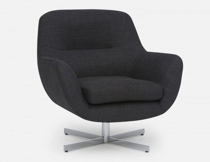 STEFAN - Swivel armchair - Grey