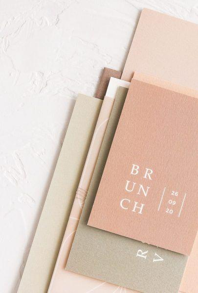 Mon cher papier – Invitation de mariage et papeterie – Design Inspiration