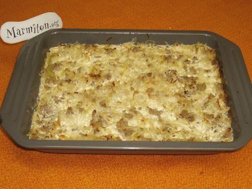 poivre, carvi, oeuf, huile, lait, Viandes, oignon, chou, crème fraîche épaisse, sel