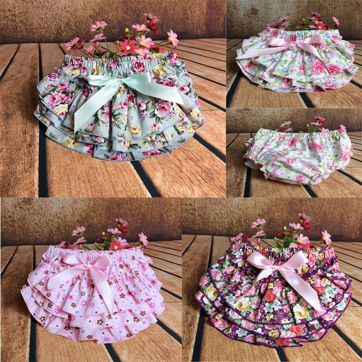 Детские рюшами шаровары слои пеленки младенца крышки новорожденных цветок шорты с юбками малыш милый летние брюки атласа