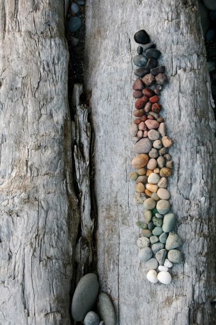 Make art with rocks at Rialto Beach