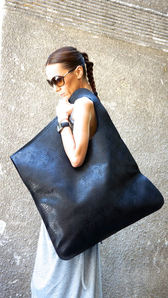 NEW Genuine Limited Edition Leather Black Bag / High by Aakasha