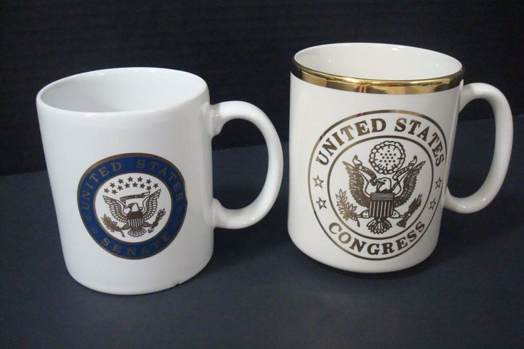 United States Senate And United States Congress Coffee Tea Mug Cup Lot Of 2  #Unbranded
