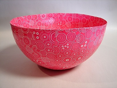 Paper Mache Bowls, handcrafted entirely out of recycled paper. These bowls come in 3 sizes: S (17.5x17.5x7cm) M (23.5x23.5x8cm) L (25.5x25.5x13)