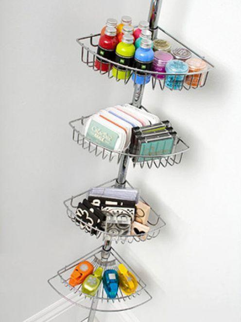 Shower rack for craft organization