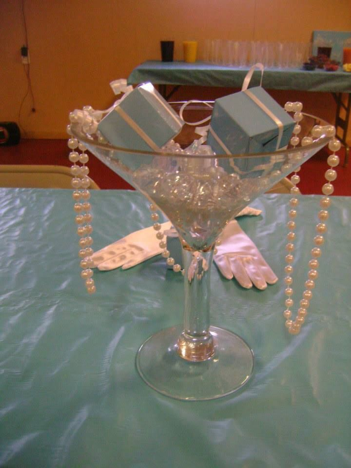 Krystal's breakfast at Tiffany's themed bridal shower