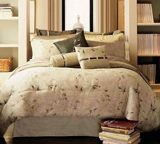 Brown Bed Linens With Floral Pattern