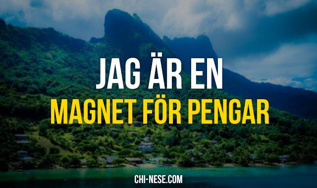 Jag är en magnet för pengar #lagenomattraktion #positivaaffirmationer #svenska
