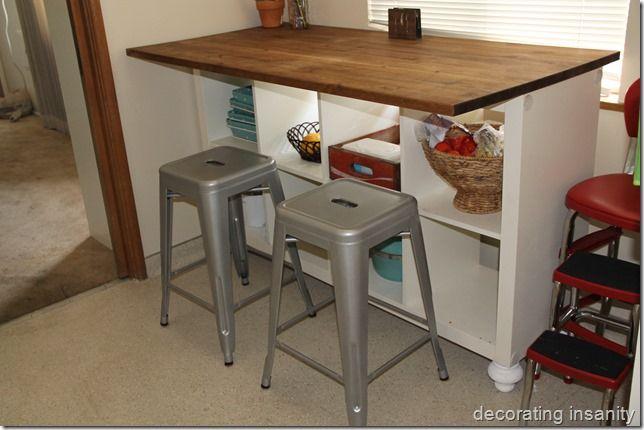 Ikea Kallax Turned Kitchen Island I Would Panel The Back So The