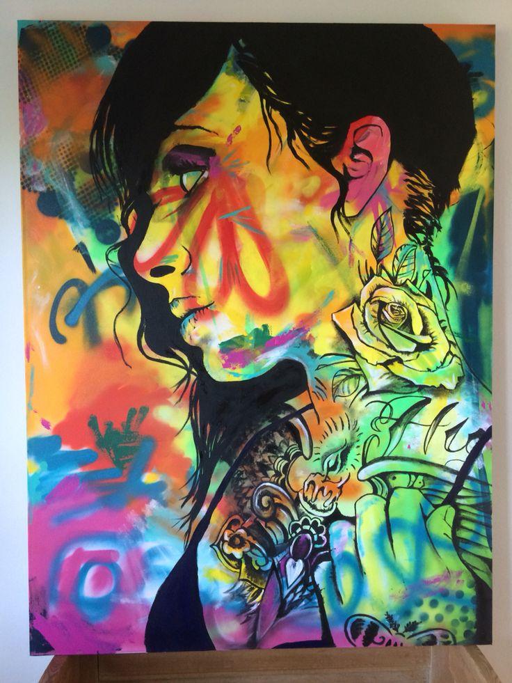 Shauna, acrylic on canvas 120x90 cm by Ronald Hofman