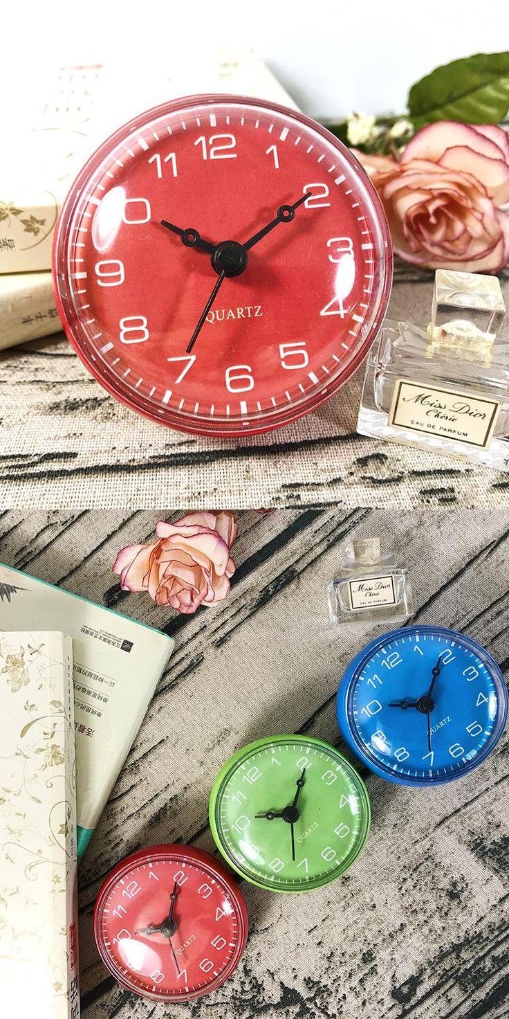 Best 25 bathroom wall clocks ideas on pinterest bathroom clocks red color waterproof clock shower clocks mini wall clock bathroom suction clocks on mirror blue amipublicfo Choice Image
