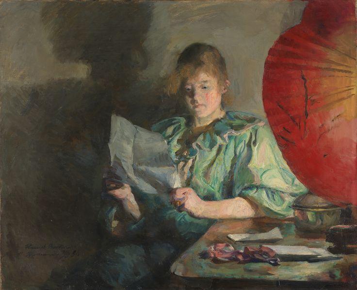 Artist     Backer, Harriet      Title     Aften, interiør      Creation date     1890      Materials and techniques     Olje på lerret      Dimensions     54 x 66 cm