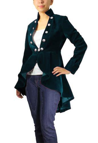 Flocking Velvet Asymmetry Jacket -- Save 37% coupon code: AMBER37
